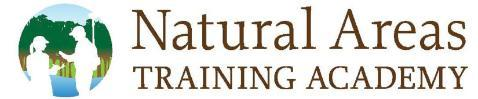 Logo for Natural Areas Training Academy